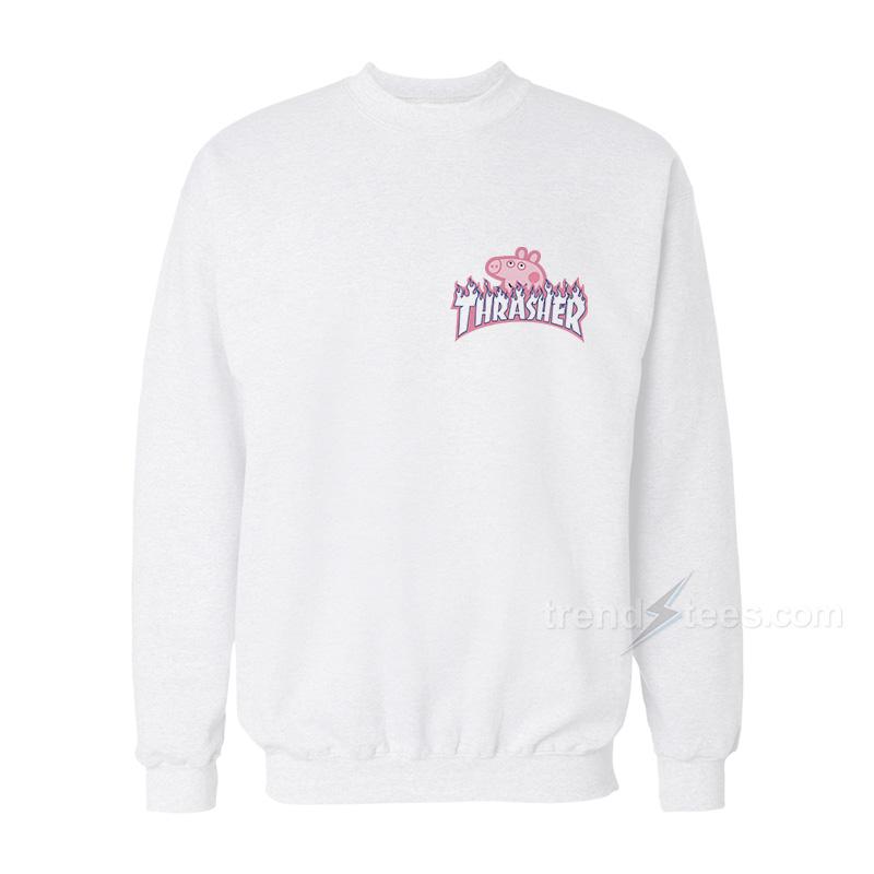 e39ff6c0e7e4 Thrasher x Peppa Pig Parody Pocket Sweatshirt For Women s or Men s