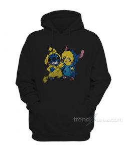 Stitch And Pikachu Hoodie For Women's or Men's