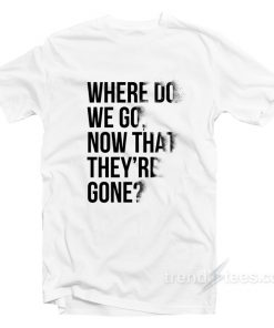 Avengers Endgame T-Shirt Where Do We Go Now That They're Gone