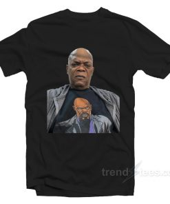 Samuel L. Jackson wearing a t shirt of himself wearing 247x296 - HOME 2