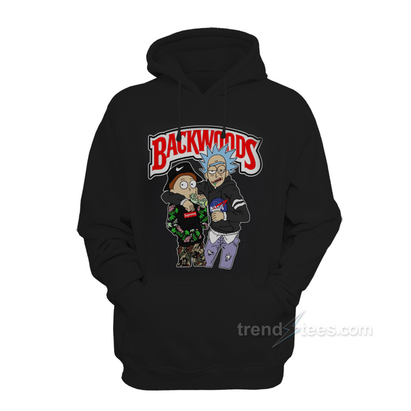 low priced 41d0c 125af Backwoods Rick and Morty Hoodie
