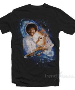 Bob Ross Galaxy Painting Graphic T-Shirt Unisex