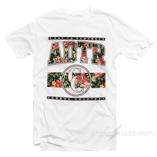 A Day To Remember Floral T-Shirt