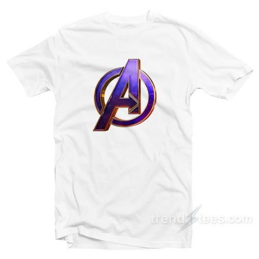 Avenger Endgame Purple Logo T-Shirt