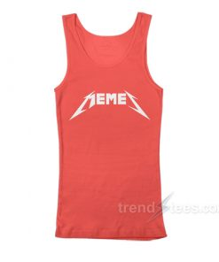 Memes Metal Metallica Funny Font Tank Top