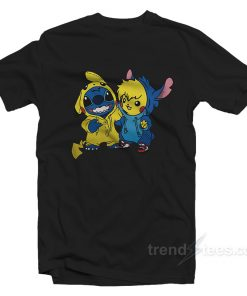 Stitch And Pikachu T-shirt