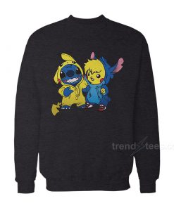 Stitch And Pikachu sweatshirt 247x296 - HOME 2