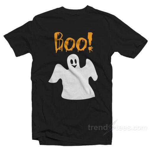 Boo Ghost Shirt Halloween Shirt For Adults