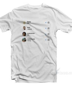 All Legends Die Young Instagram T-Shirt