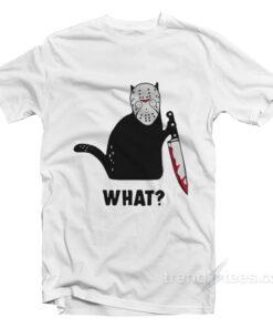 Black Cat Jason Voorhees T-Shirt