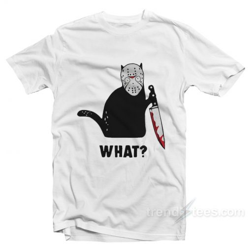 Black Cat Jason Voorhees T-Shirt