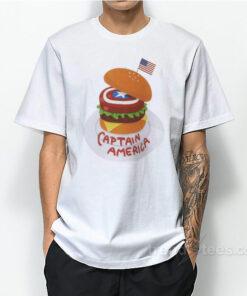 Captain America Burger T-Shirt