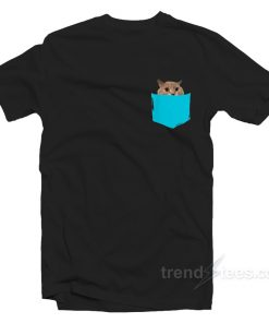 Crazy Peekaboo Pocket Pet Cat T-Shirt