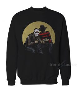 Horror Scary Movie Villains Playing Video Games Sweatshirt