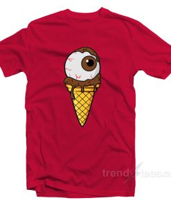 Spooky Monster Eye Chocolate Ice Cream T-Shirt