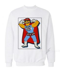 Super Duff Bart Simpsons Sweatshirt
