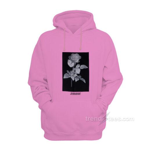 Pink Rose Amour Hoodie