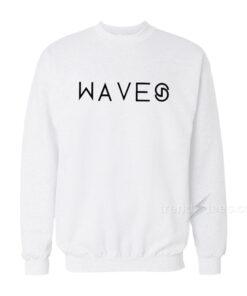 Wave White Sweatshirt
