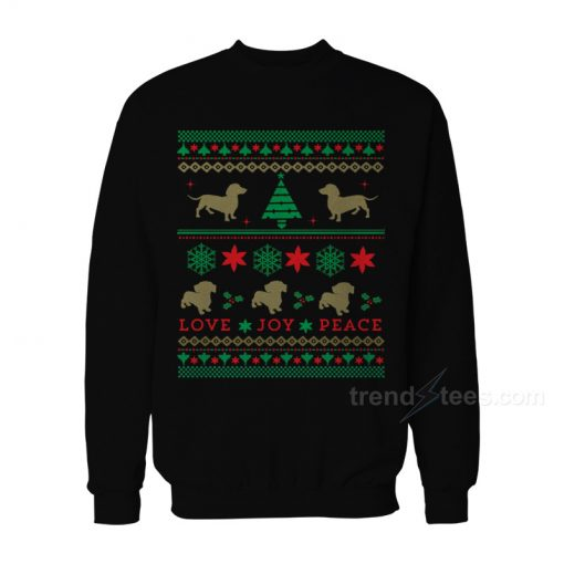 Dog Dachshund Ugly Christmas Sweater