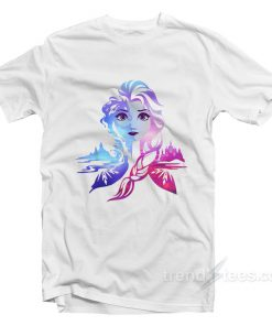 Frozen 2 Elsa Two Tone Gradient Portrait T-Shirt