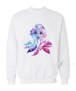 Frozen 2 Elsa Two Tone Gradient Portrait Sweatshirt
