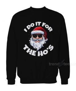 I Do It For The Ho's Christmas Santa Claus Sweater
