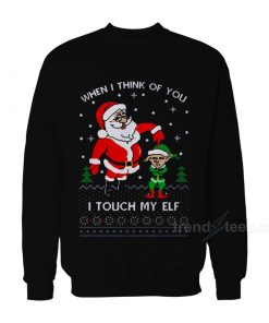 I Touch My Elf Christmas Sweater