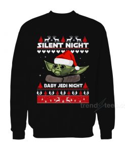 Silent Night Baby Yoda Night Christmas Sweatshirt