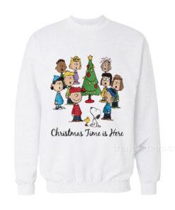 The Peanuts Gang Christmas Time Is Here Sweatshirt 247x296 - HOME 2