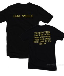 Fake Simles T-Shirt Cheap Custom