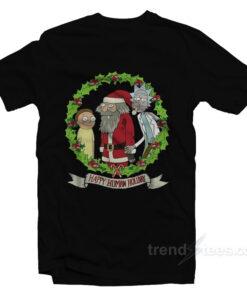 Rick Morty Happy Human Holiday T-Shirt