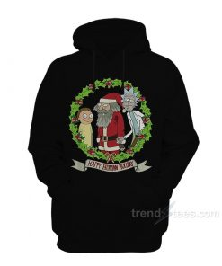 Rick Morty Happy Human Holiday Hoodie