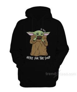 Baby Yoda Dringking Soup Hoodie