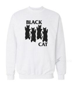 Black Cat Parody Black Flag Sweatshirt