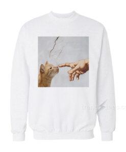 God Created Cats Sweatshirt