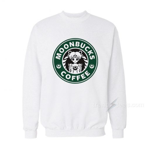 Moonbucks Coffee Sailor Moon Starbucks Logo Parody Sweatshirt