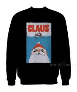 Santa Claus Jaws Parody Sweatshirt