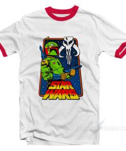 Star Wars Boba Fett The Mandalorian Ringer Shirt
