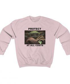 25448 247x296 - Protect At All Costs Baby Yoda Crewneck Sweatshirt