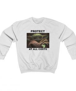 25458 247x296 - Protect At All Costs Baby Yoda Crewneck Sweatshirt