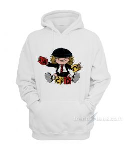 Angus Young Playing Puzzle Hoodie