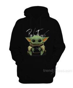 Baby Yoda Hug Pink Floyd Album Hoodie