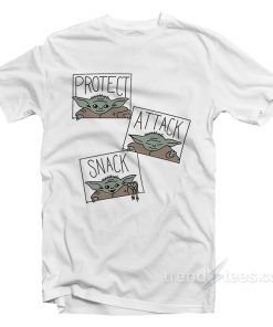 Baby Yoda Protect Attack Snack T Shirt 247x296 - HOME 2