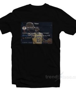 Kobe Bryant's Final Tweet Praised LeBron James T-Shirt