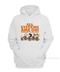 Snoopy Peanuts NASA All Systems Are Go Hoodie