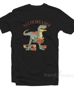 Velocireader Awesome Velociraptor Back To School T-Shirt