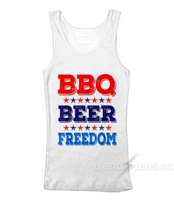 BBQ Beer Freedom America USA Party Tank Top