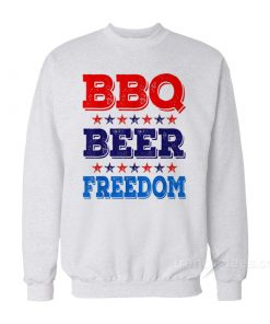 BBQ Beer Freedom America USA Party Sweatshirt