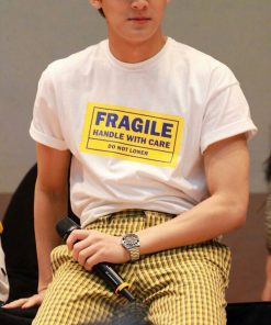 Yellow Tape Fragile Handle With Care Do Not Loner T-Shirt