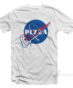 Funny Pizza Nasa Logo Parody T-Shirt